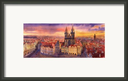 Prague Old Town Square 02 Framed Print By Yuriy  Shevchuk