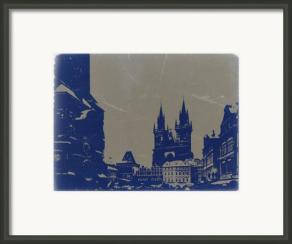Prague Old Town Square Framed Print By Naxart Studio