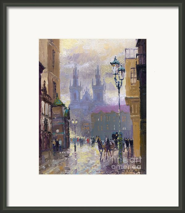 Prague Old Town Square  Framed Print By Yuriy  Shevchuk