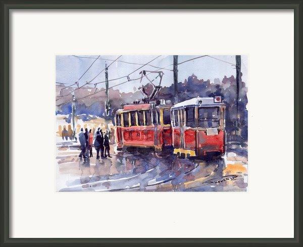 Prague Old Tram 01 Framed Print By Yuriy  Shevchuk