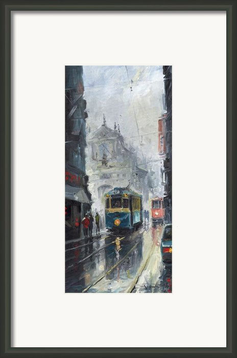 Prague Old Tram 04 Framed Print By Yuriy  Shevchuk