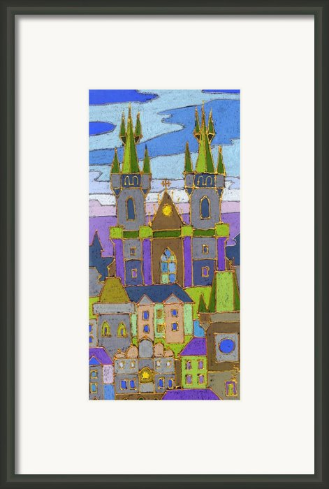Prague Panorama Framed Print By Yuriy  Shevchuk