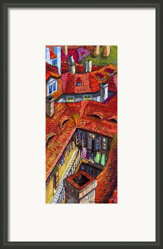 Prague Roofs 01 Framed Print By Yuriy  Shevchuk