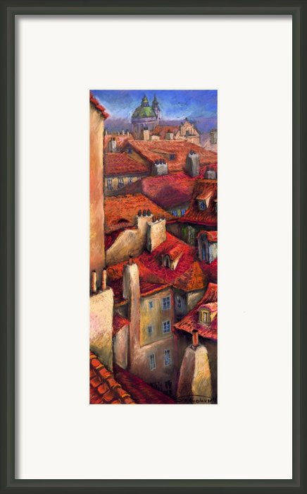 Prague Roofs Framed Print By Yuriy  Shevchuk