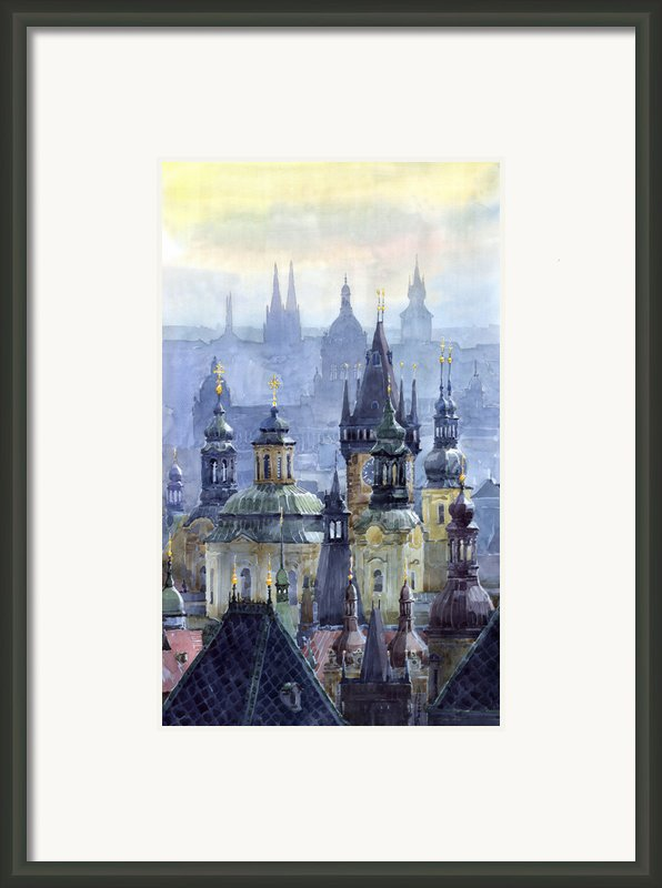 Prague Towers Framed Print By Yuriy  Shevchuk