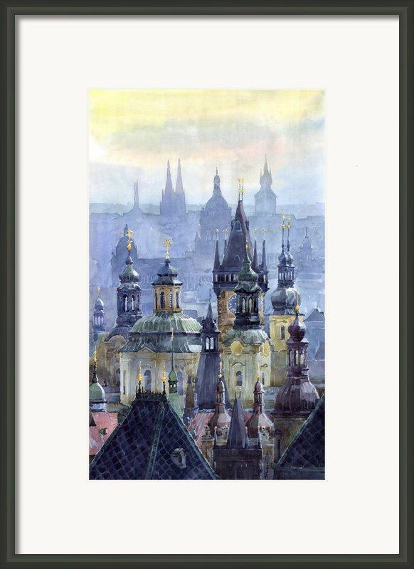 Prague Towers Framed Print By Yuriy  Shevchuk