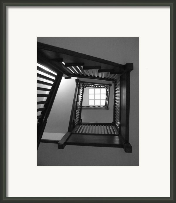 Prairie House Stairs Framed Print By Anna Villarreal Garbis
