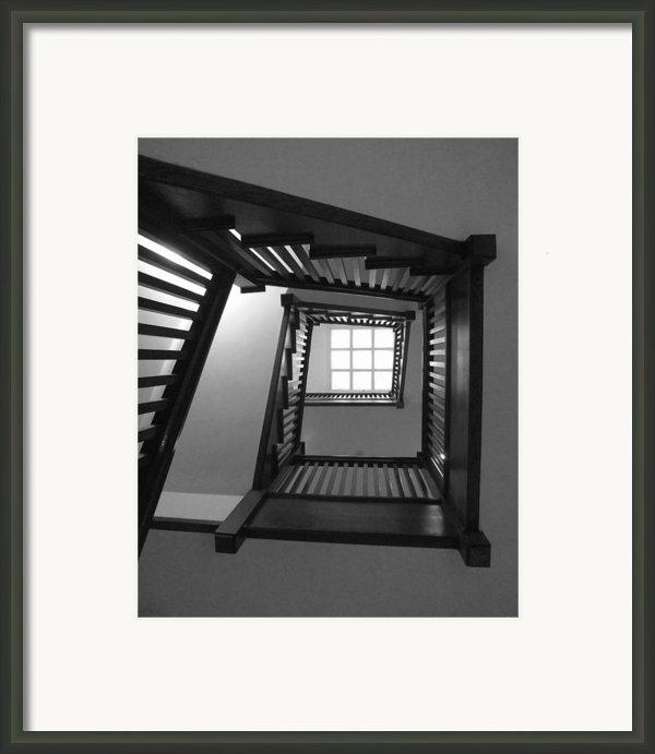 Prairie House Stairs Framed Print By Anna Villarreal Garbis