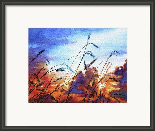 Prairie Sky Framed Print By Hanne Lore Koehler