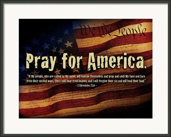 Pray For America Framed Print By Shevon Johnson