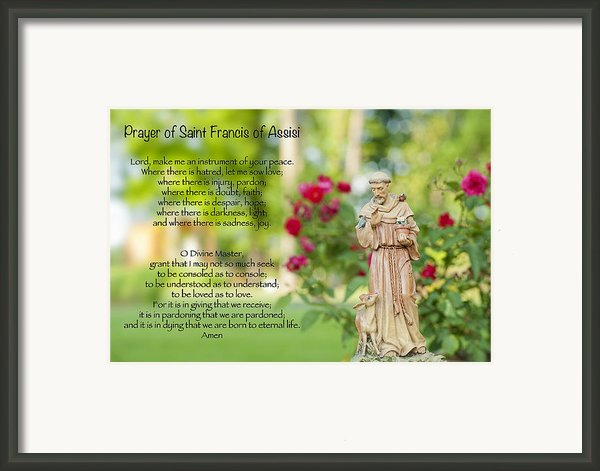 Prayer Of St. Francis Of Assisi Framed Print By Bonnie Barry