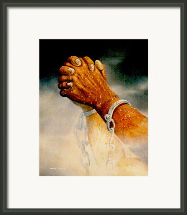 Praying Hands Framed Print By George Combs