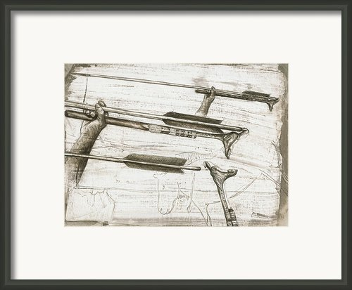 Prehistoric Spear-thrower Framed Print By Kennis And Kennismsf