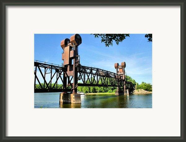 Prescott Lift Bridge Framed Print By Kristin Elmquist