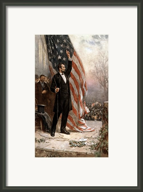President Abraham Lincoln Giving A Speech Framed Print By War Is Hell Store