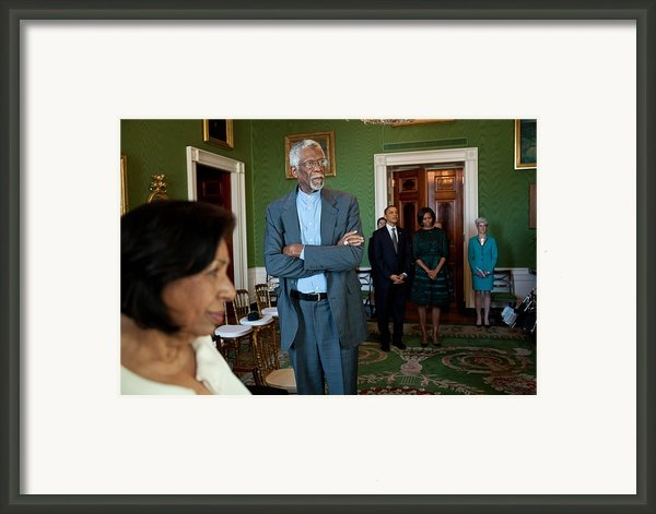 President And First Lady Michelle Obama Framed Print By Everett