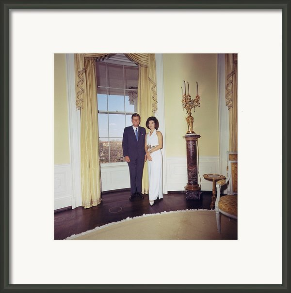 President And Jacqueline Kennedy Framed Print By Everett