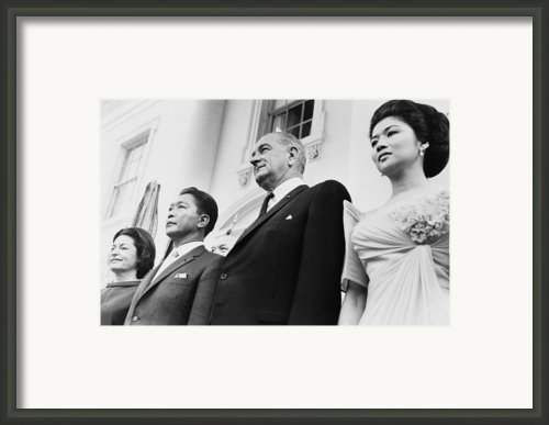 President And Lady Bird Johnson Framed Print By Everett