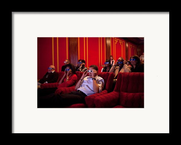 President And Michelle Obama Wear 3-d Framed Print By Everett