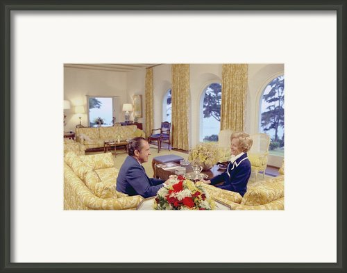 President And Pat Nixon Sitting Framed Print By Everett