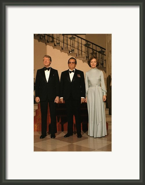 President And Rosalynn Carter Framed Print By Everett