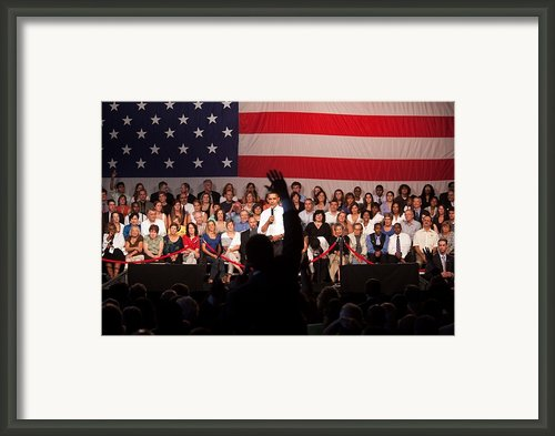 President Barack Obama Answers Framed Print By Everett