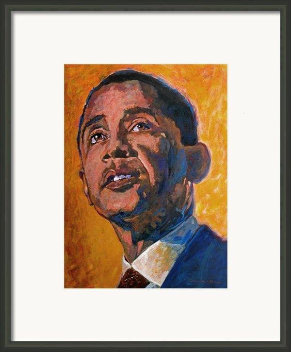 President Barack Obama Framed Print By David Lloyd Glover