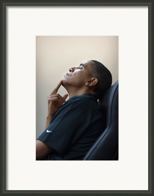 President Barack Obama Framed Print By Everett
