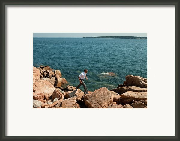 President Barack Obama Hikes Framed Print By Everett