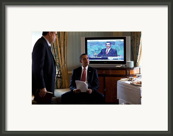 President Barack Obama In Front Framed Print By Everett