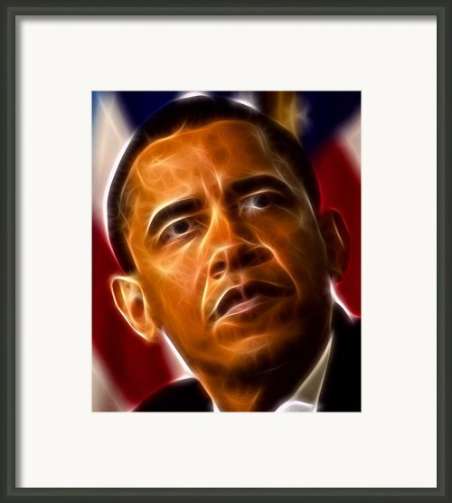 President Barack Obama Framed Print By Pamela Johnson