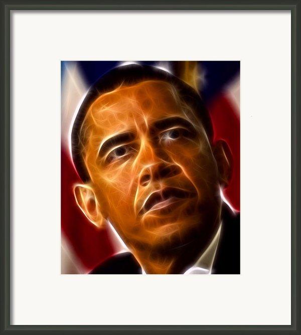 President Barack Obama Framed Print By Pamela Johnson