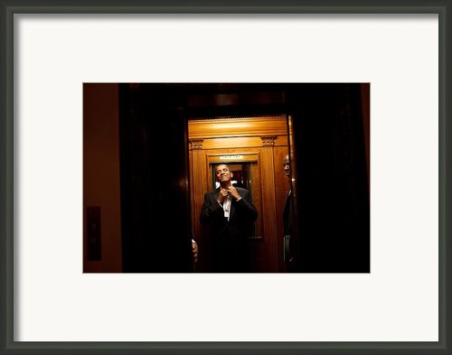 President Barack Obama Takes The White Framed Print By Everett