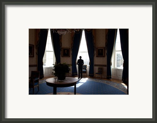 President Barack Obama The Day Framed Print By Everett