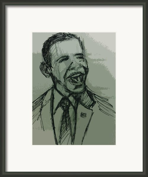 President Barack Obama Framed Print By William Winkfield
