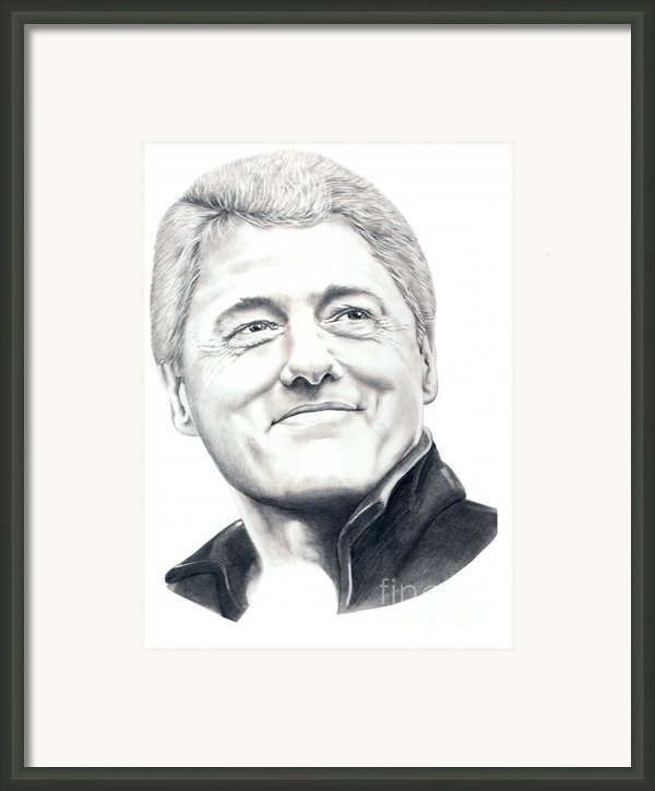 President Bill Clinton Framed Print By Murphy Elliott