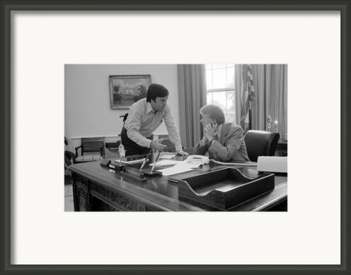 President Carter And His Chief Of Staff Framed Print By Everett