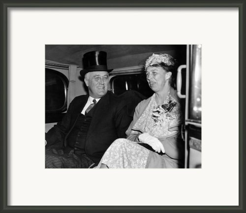 President Franklin D. Roosevelt, First Framed Print By Everett