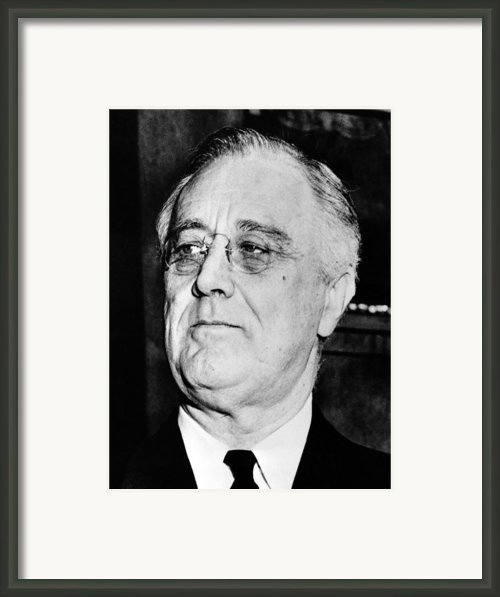 President Franklin Delano Roosevelt Framed Print By War Is Hell Store