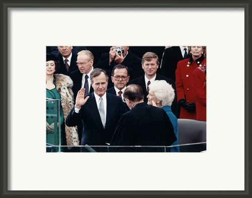 President George Herbert Walker Bush Framed Print By Everett