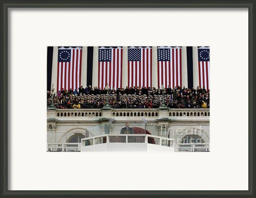 President George W. Bush Makes Framed Print By Stocktrek Images