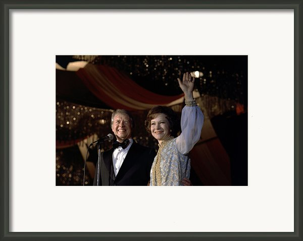 President Jimmy Carter And First Lady Framed Print By Everett