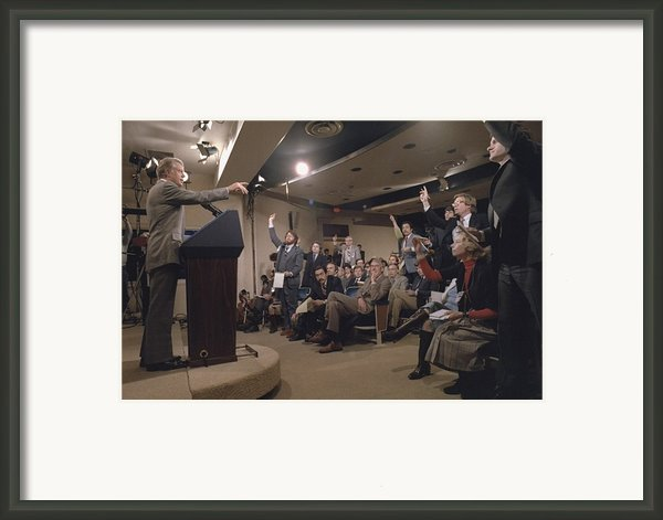 President Jimmy Carter At His 44th Framed Print By Everett