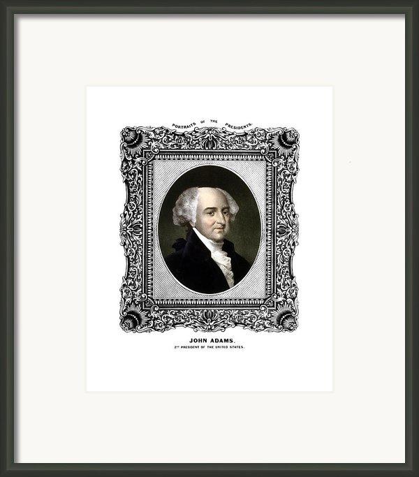 President John Adams Portrait  Framed Print By War Is Hell Store
