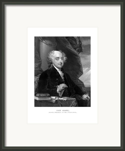 President John Adams Framed Print By War Is Hell Store
