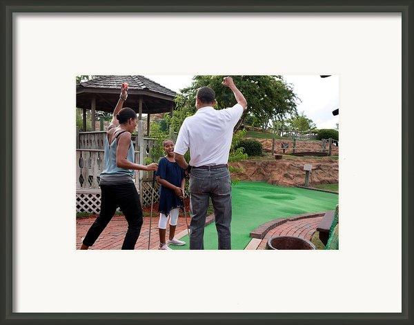 President Michelle Obama React Framed Print By Everett