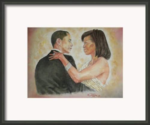 President Obama And First Lady Framed Print By G Cuffia