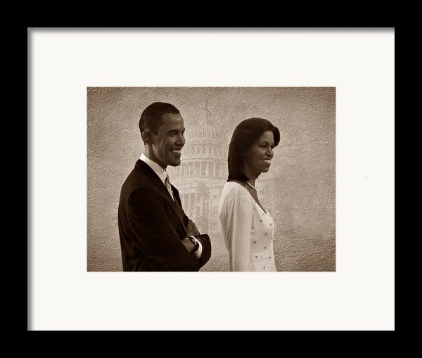 President Obama And First Lady S Framed Print By David Dehner