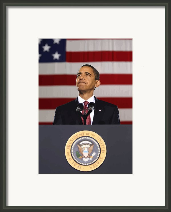 President Obama Framed Print By War Is Hell Store