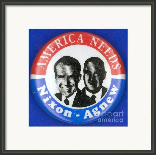 Presidential Campaign:1972 Framed Print By Granger